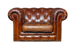 Brown leather chair Stock Images