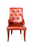 Brown leather chair Stock Photos