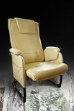 Brown leather chairs Stock Photo