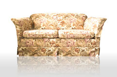 Brown leather Chesterfield sofa Royalty Free Stock Images
