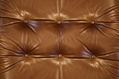 Brown leather close-up background Stock Photography