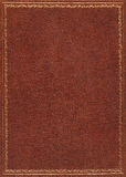 Brown leather cover Royalty Free Stock Image