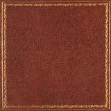 Brown leather cover Stock Images