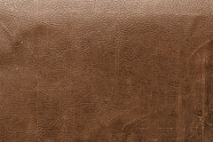 Brown leather with detail and texture Royalty Free Stock Photos