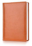 Brown leather diary book Royalty Free Stock Image