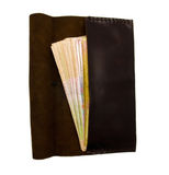 Brown leather fashion wallet isolated Stock Photos