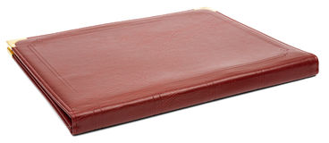 Brown leather folder Royalty Free Stock Photography