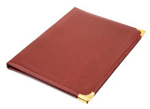 Brown leather folder Stock Image