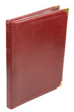 Brown leather folder Royalty Free Stock Photos