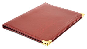 Brown leather folder Stock Photography