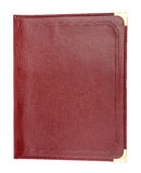 Brown leather folder Stock Photo