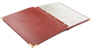 Brown leather folder Stock Photos