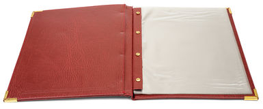 Brown leather folder Royalty Free Stock Images