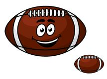 Brown leather football with a happy smile Royalty Free Stock Images