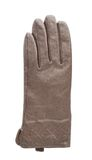 Brown leather glove isolated. Over the white background Royalty Free Stock Photo