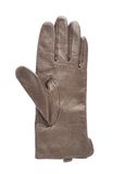 Brown leather glove isolated. Over the white background Stock Photo