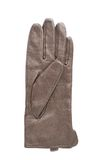 Brown leather glove isolated. Over the white background Royalty Free Stock Image