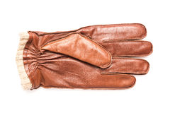 Brown Leather Glove Isolated Royalty Free Stock Photo