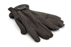 Brown leather gloves Stock Photo