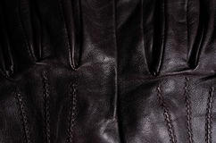 Brown leather gloves detail II Royalty Free Stock Photos