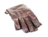 Brown Leather Gloves Stock Photos