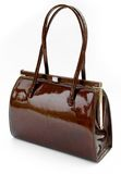 Brown leather handbag Royalty Free Stock Images