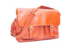 Brown Leather handbag stock photography