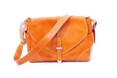 Brown Leather handbag royalty free stock photos