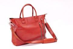 Brown Leather handbag stock photos