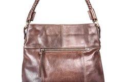 Brown leather handbag Royalty Free Stock Image