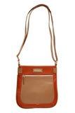 Brown leather handbag Royalty Free Stock Photo