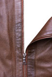 Brown Leather Jacket closeup Royalty Free Stock Photos