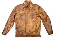 Brown leather jacket Royalty Free Stock Photos