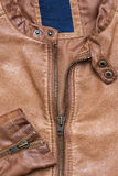 Brown leather jacket Stock Images