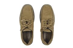 Brown Leather Lace Up Shoes Stock Images