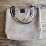 Brown leather ladies bag Royalty Free Stock Photo