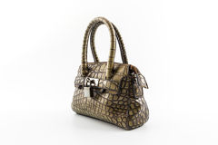 Brown Leather Ladies Handbag. Stock Photo