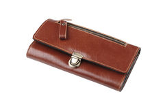 brown leather lady purse Stock Image