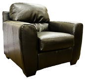 Brown Leather Living Room Chair Stock Photography