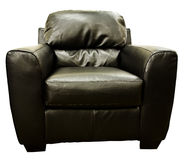Brown Leather Living Room Chair Stock Image