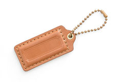 Brown Leather Luggage Tag Royalty Free Stock Image