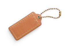 Brown Leather Luggage Tag Royalty Free Stock Images