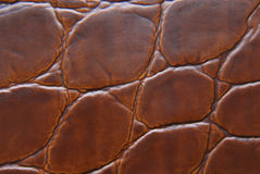 Brown leather macro texture royalty free stock photo