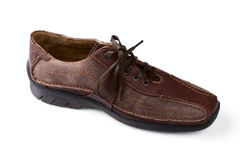 Brown leather man's shoe Royalty Free Stock Photo
