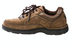 Brown leather mans shoe Stock Image