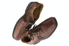 Brown leather man's shoes Stock Photo