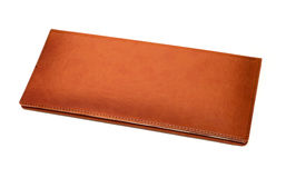 Brown leather memo book Stock Image
