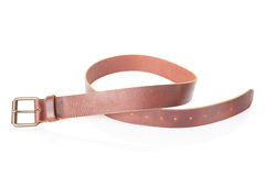 Brown leather men belt Royalty Free Stock Photos