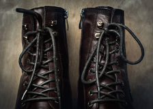 Brown leather men's shoes Royalty Free Stock Photos