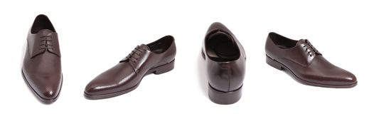 Brown leather men shoe Royalty Free Stock Photography